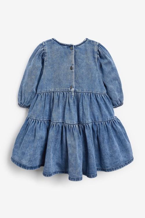 Next Tiered Denim Dress (3mths-7yrs)
