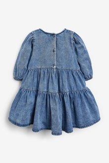Next Tiered Denim Dress (3mths-7yrs) - 289345