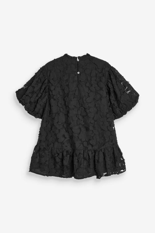 Next Textured Cotton Dress (3-16yrs)