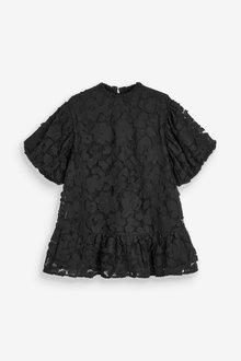 Next Textured Cotton Dress (3-16yrs) - 289347