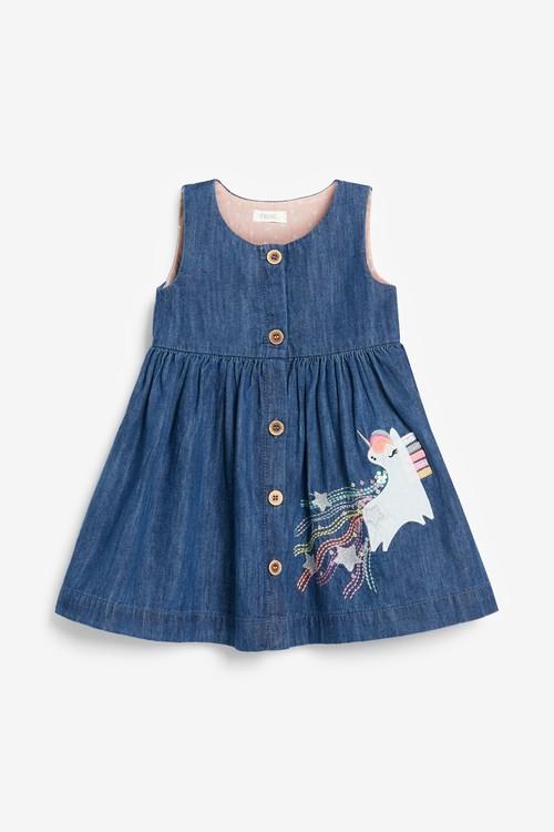 Next Unicorn Denim Dress (3mths-7yrs)