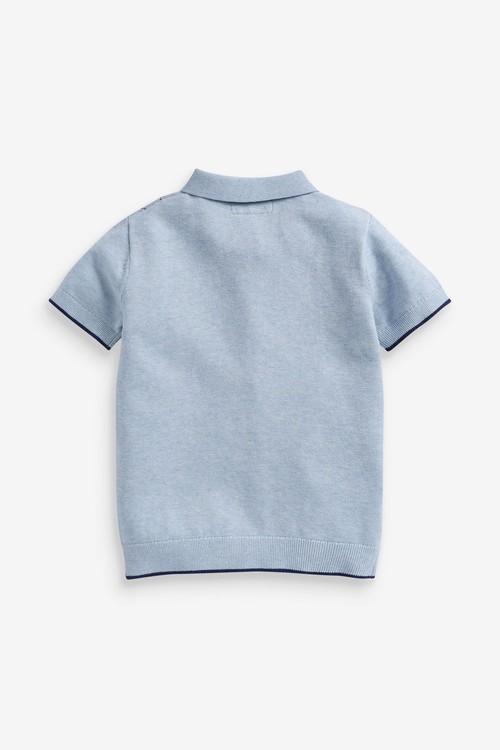 Next Knitted Argyle Poloshirt (3-16yrs)