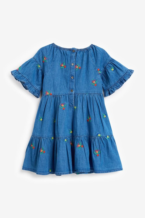 Next Embroidered Denim Dress (3mths-7yrs)
