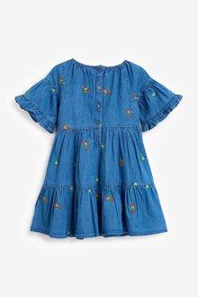 Next Embroidered Denim Dress (3mths-7yrs) - 289375