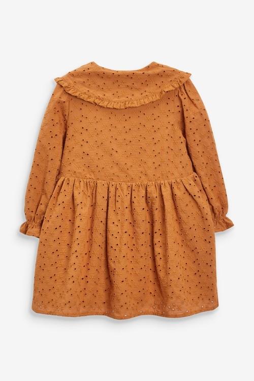 Next Cotton Broderie Collar Dress (3mths-7yrs)