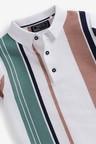 Next Vertical Stripe Knitted Poloshirt (3-16yrs)