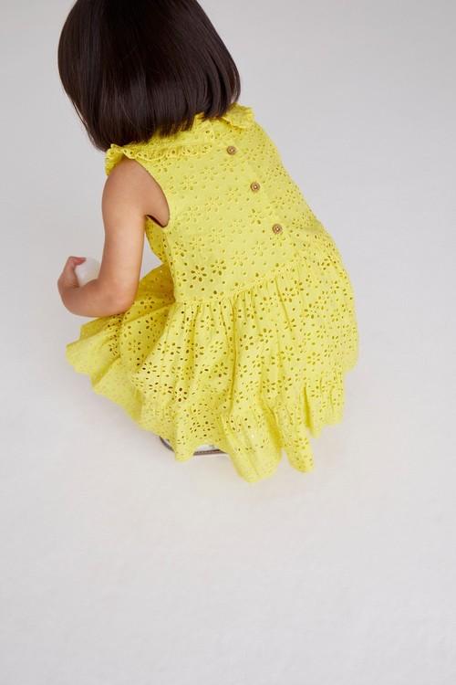 Next Broderie Collar Dress (3mths-7yrs)