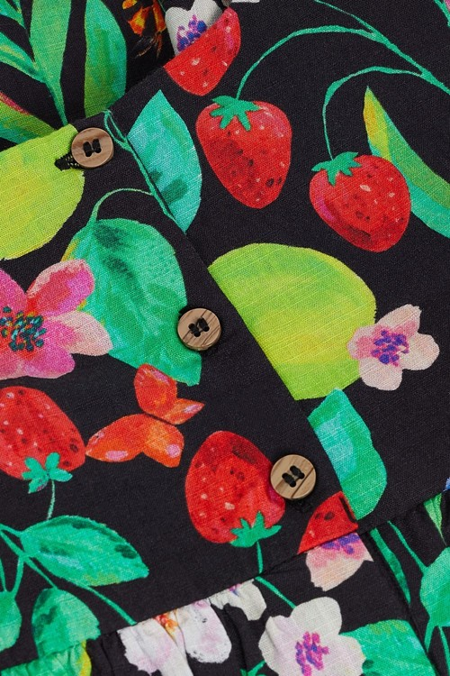 Next Printed Cold Shoulder Dress (3mths-7yrs)