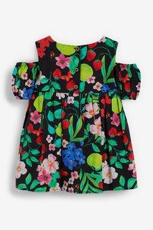 Next Printed Cold Shoulder Dress (3mths-7yrs) - 289390