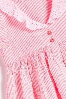 Next Lace Collar Stripe Dress (3mths-7yrs) - 289405