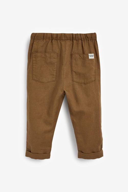 Next 2 Pack Linen Blend Trousers (3mths-7yrs)
