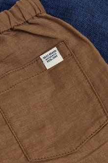 Next 2 Pack Linen Blend Trousers (3mths-7yrs) - 289408