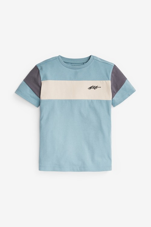 Next 2 Pack Colourblock T-Shirts (3-16yrs)