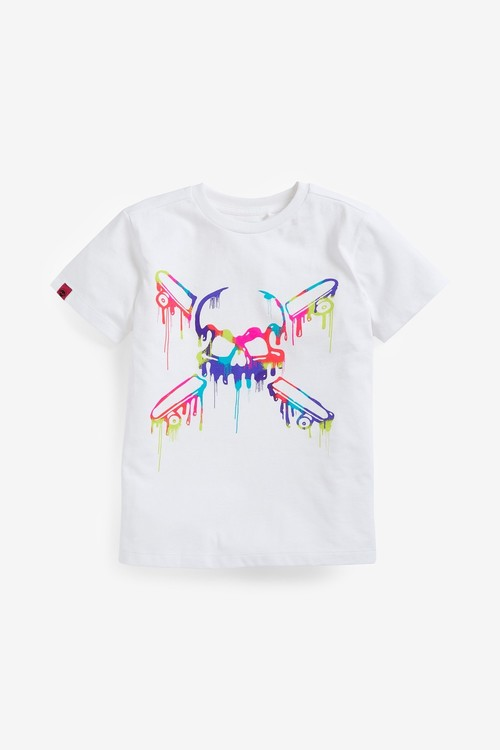 Next 4 Pack Skull Short Sleeve Jersey T-Shirts (3-16yrs)