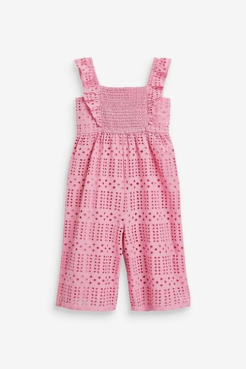 Next Cotton Broderie Jumpsuit (3mths-7yrs)