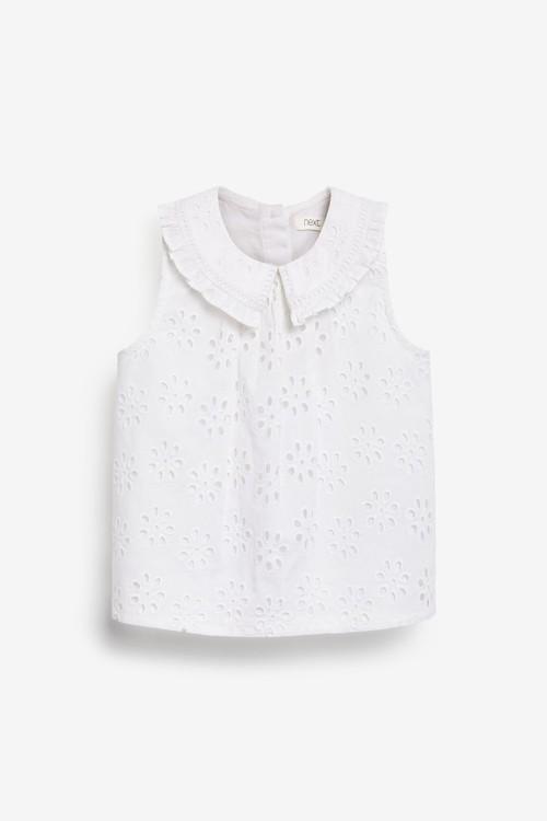 Next Broderie Collar Blouse (3mths-7yrs)