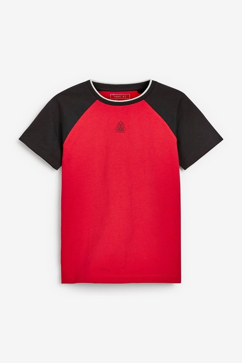 Next 3 Pack Colour Block Short Sleeve T-Shirts (3-16yrs)