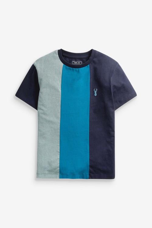 Next 3 Pack Heritage Colourblock T-Shirts (3-16yrs)