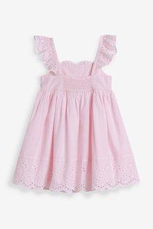 Next Cotton Broderie Beach Dress (3mths-7yrs) - 289446