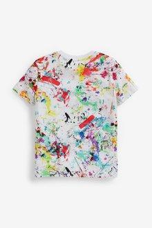 Next 3 Pack Bright Splat Short Sleeve Jersey T-Shirts (3-16yrs) - 289455