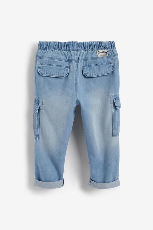 Next Denim Cargo Trousers (3mths-7yrs)