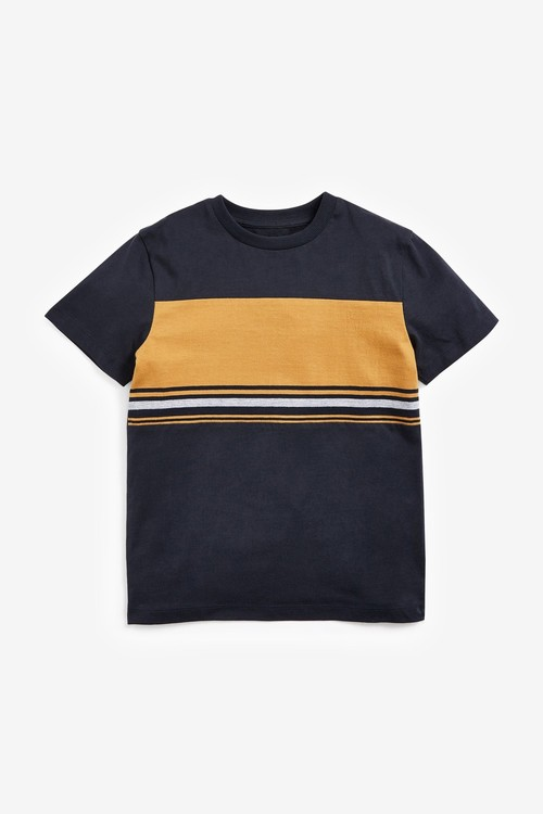 Next 4 Pack Colourblock T-Shirts (3-16yrs)