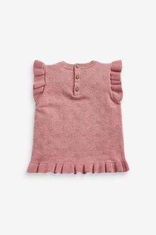 Next Short Sleeve Pointelle Frill Top (3mths-7yrs) - 289464