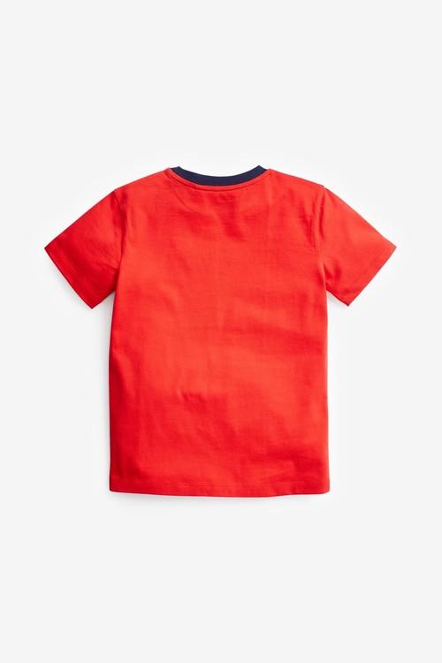 Next 2 Pack Transport Short Sleeve Jersey T-Shirts (3-16yrs)