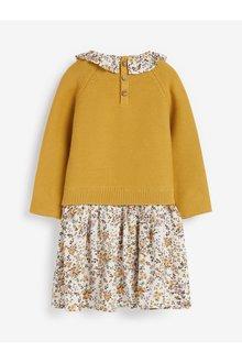 Next Woven Mix Collar Dress (3mths-7yrs) - 289469