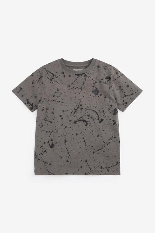 Next 3 Pack Splat Short Sleeve Jersey T-Shirts (3-16yrs)