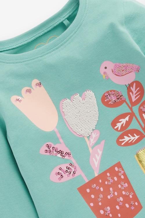Next Flower Sequin T-Shirt (3mths-7yrs)