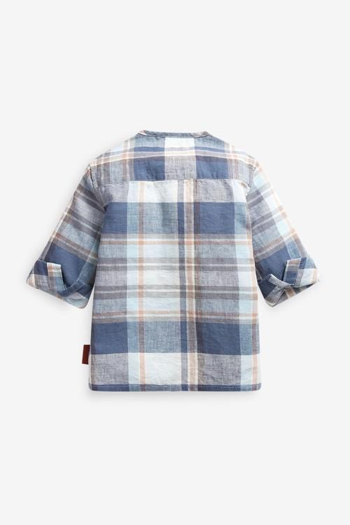Next Check Grandad Collar Shirt (3mths-7yrs)