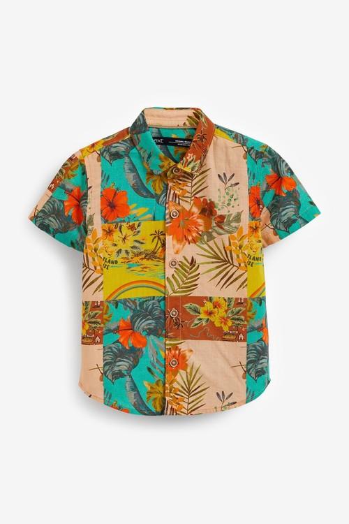 Next Cotton Short Sleeve (3mths-7yrs)-Shirt & Short Set