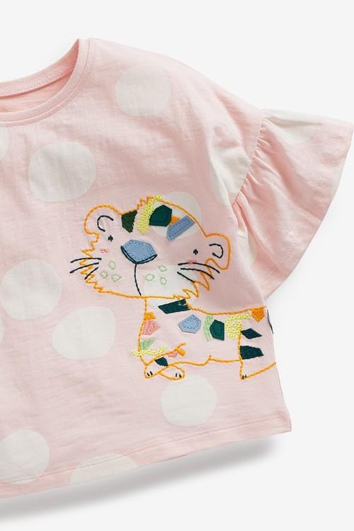 Next Frill Leopard T-Shirt (3mths-7yrs)