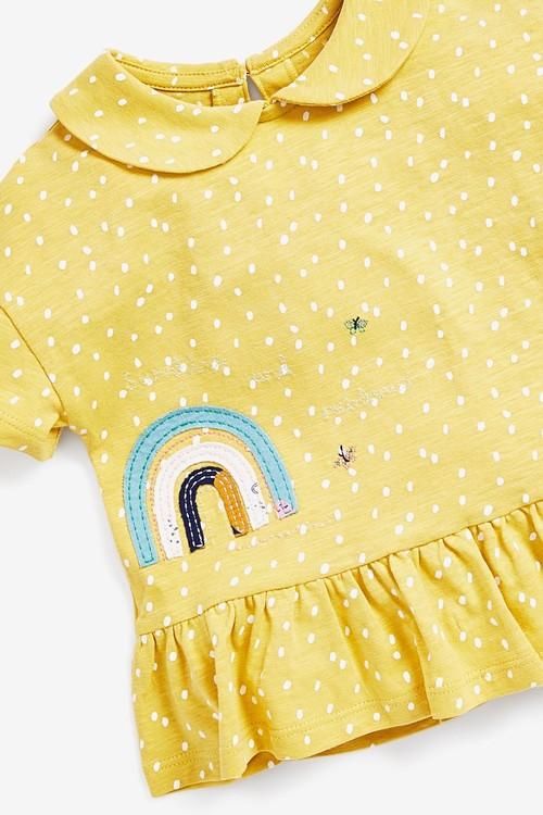 Next Rainbow Peplum Collar T-Shirt (3mths-7yrs)