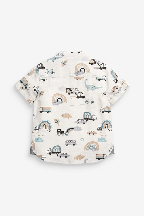 Next Short Sleeve Rainbow Print Shirt (3mths-7yrs)