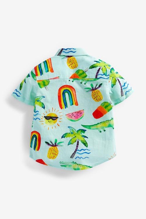 Next Cotton Short Sleeve (3mths-7yrs)-Shirt