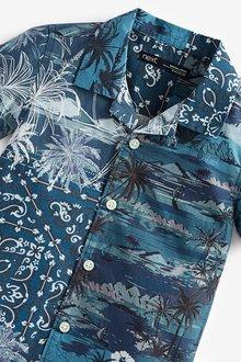 Next Cotton Short Sleeve (3mths-7yrs)-Shirt - 289534