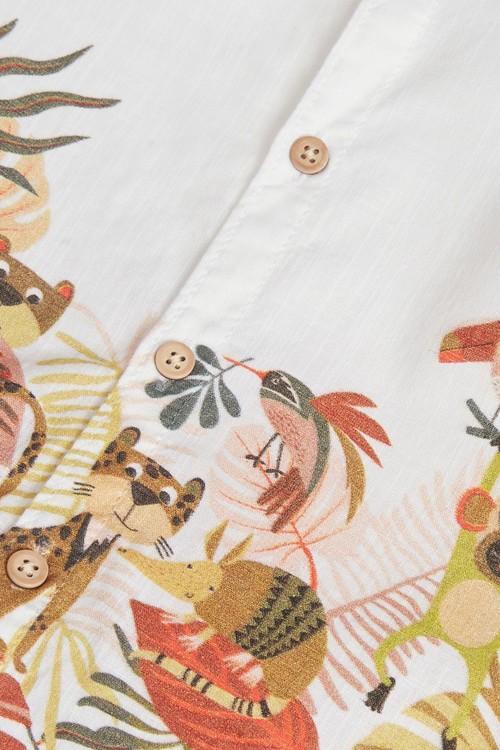 Next Short Sleeve Border Print Shirt (3mths-7yrs)