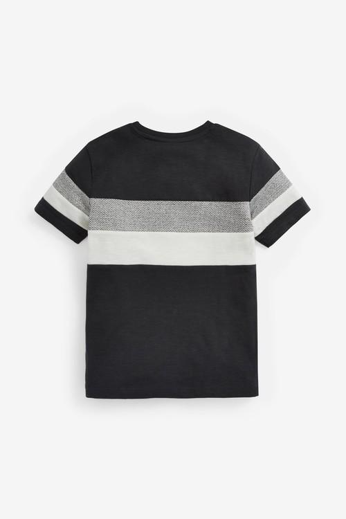 Next Textured Colourblock T-Shirt (3-16yrs)