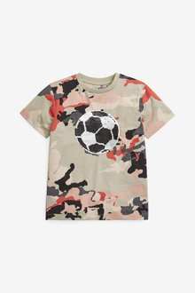Next Flippy Sequin Football T-Shirt (3-16yrs) - 289567