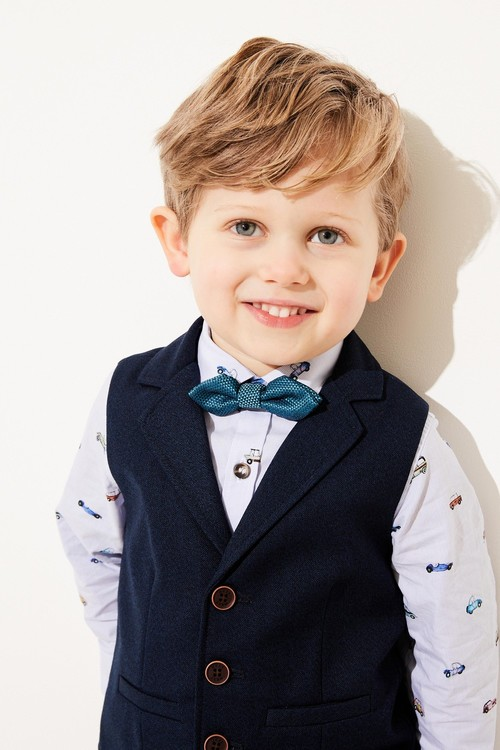Next Lapel Waistcoat, Shirt And Bow Tie Set (3mths-7yrs)