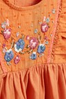 Next Embroidered Jersey Woven Blouse (3mths-7yrs)