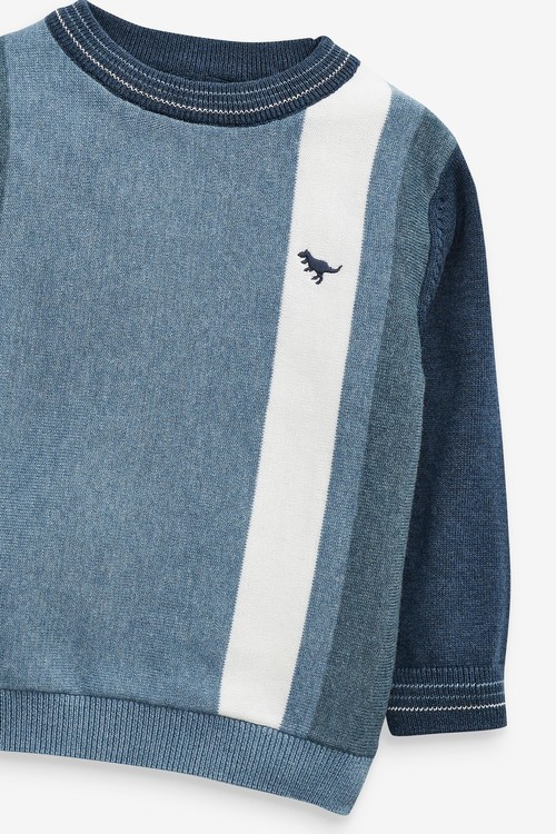 Next Vertical Stripe Crew Sweater (3mths-7yrs)