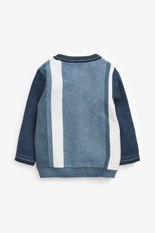 Next Vertical Stripe Crew Sweater (3mths-7yrs) - 289608