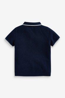 Next Knitted Textured Poloshirt (3mths-7yrs) - 289616