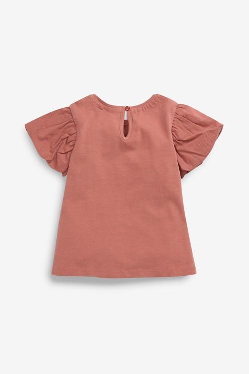 Next GOTS Organic Cotton Puff Sleeve T-Shirt (3mths-7yrs)