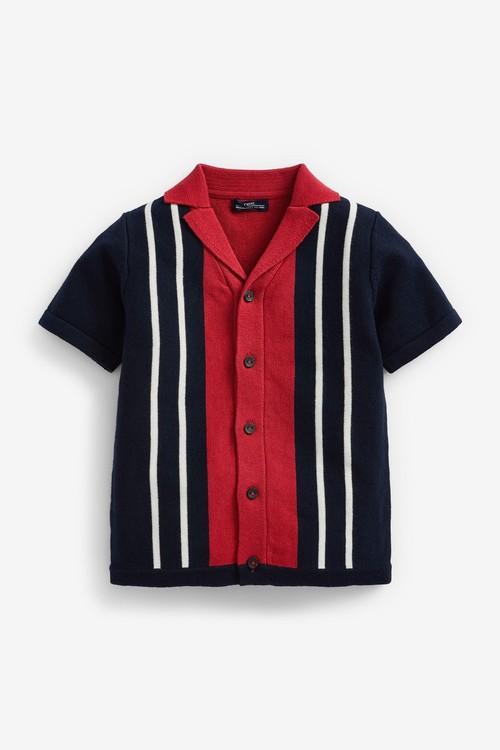 Next Knitted Rever Collar Button Through Polo (3mths-7yrs)