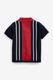 Next Knitted Rever Collar Button Through Polo (3mths-7yrs) - 289623