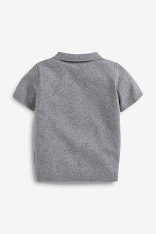 Next Knitted Argyle Pattern Poloshirt (3mths-7yrs) - 289627